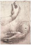 Leonardo da Vinci (Study of women's hands) Art Poster Print Prints