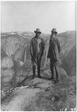 Theodore Roosevelt with John Muir Archival Photo Poster Print Plakater