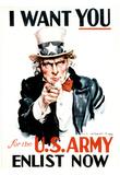 I Want You (Uncle Sam) Art Poster Print Prints