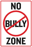 No Bully Zone Classroom Poster Pósters