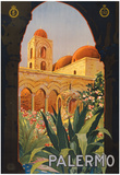 Palermo Sicily Tourism Travel Vintage Ad Poster Print Photo
