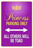Princess Parking Only Purple Sign Poster Print Kunstdrucke