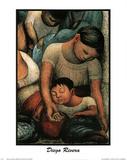 Sleep Diego Rivera Mother New Art Poster Print Foto