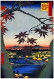 Utagawa Hiroshige Japanese Maple Trees at Mama Poster