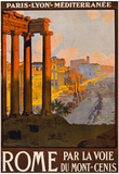 Rome Italy Tourism Travel Vintage Ad Poster Print Photo