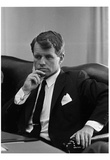 Ted Kennedy (Young, B&W) Art Poster Print Plakater