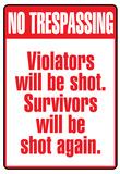 No Tresspassing Sign Art Print Poster Póster