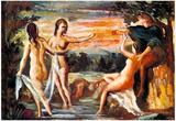 Paul Cezanne Judgement of Paris Art Poster Prints