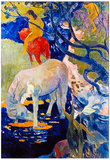 Paul Gauguin The White Horse Art Print Poster Affiches