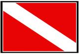 Scuba Diver Down Flag Print Poster Poster