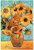 Vincent Van Gogh (Vase with Twelve Sunflowers ) Art Poster Print Kunstdrucke