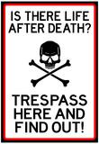 No Trespassing Do Not Enter Sign Poster Lámina