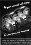 US Armed Services (Recruiting Women, 1944) Art Poster Print Plakat