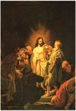 Rembrandt Doubting Thomas Art Print Poster Posters