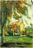 Paul Cezanne The Pond of the Jas de Bouffan in Winter Art Print Poster Posters