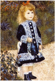 Pierre Auguste Renoir Girl with the Watering Can Art Print Poster Posters