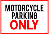Motorcycle Parking Only Poster Poster
