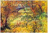 Vincent Van Gogh Shores in the Spring at the Pont de Clichy Art Print Poster Foto