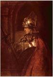 Rembrandt Harmensz. van Rijn (Man with arms (Alexander the Great)) Art Poster Print Plakat