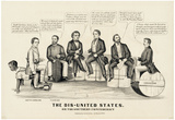 The Dis-United States Political Cartoon Art Print Poster Póster