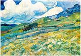 Vincent Van Gogh Mountain Landscape behind the Hospital Saint-Paul Art Print Poster Posters