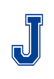 Varsity Letter J Make Your Own Banner Sign Poster Plakater