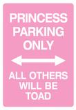 Princess Parking Only No Parking Pink Sign Poster Print Kunstdruck