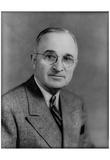 President Harry S Truman (Portrait) Art Poster Print Posters