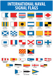 Naval Signal Nautical Flags Transportation Print Poster Affiches