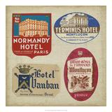 Vintage Travel Collage III Kunst op metaal