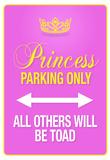Princess Parking Only Pink Sign Poster Print Poster