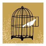 Birdcage Silhouette II Poster von Erica J. Vess