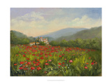 Umbrian Poppy Field Posters par Mary Jean Weber