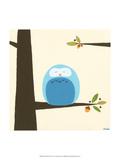 Orchard Owls III Schilderij van Erica J. Vess