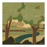 Arts and Crafts Landscape I Kunstdrucke von Wendy Russell