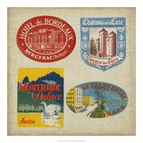 Vintage Travel Collage I Kunst op metaal