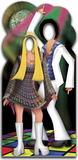 Disco Couple Stand-In Lifesize Standup Pappfiguren