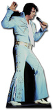 Elvis-Blue Jump Suit Pappfigurer