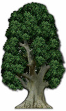 Baum Pappfiguren