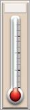 Fundraising Thermometer Lifesize Standup Figura de cartón