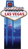 Vegas Sign Lifesize Standup Pappfiguren