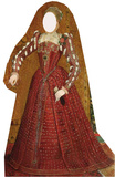 Tudor Woman-Stand-In Pappfigurer