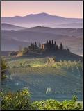 Fazenda, Val D'Orcia, Toscana, Itália Fotografia montada por Doug Pearson