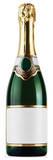 Bottle of Champagne Pappfigurer