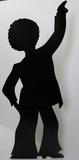Disco Dancer - Male Silhouette Pappfigurer