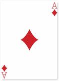 Ace of Diamonds Pappfigurer