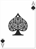 Ace of Spades Pappfigurer