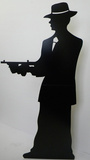 Gangster-Silhouette -Single Pappfigurer