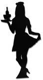 Waitress-Silhouette Figura de cartón