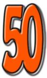 Number 50 Figura de cartón